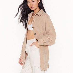 NASTY GAL The Easy Way Out Corduroy SHIRT JACKET